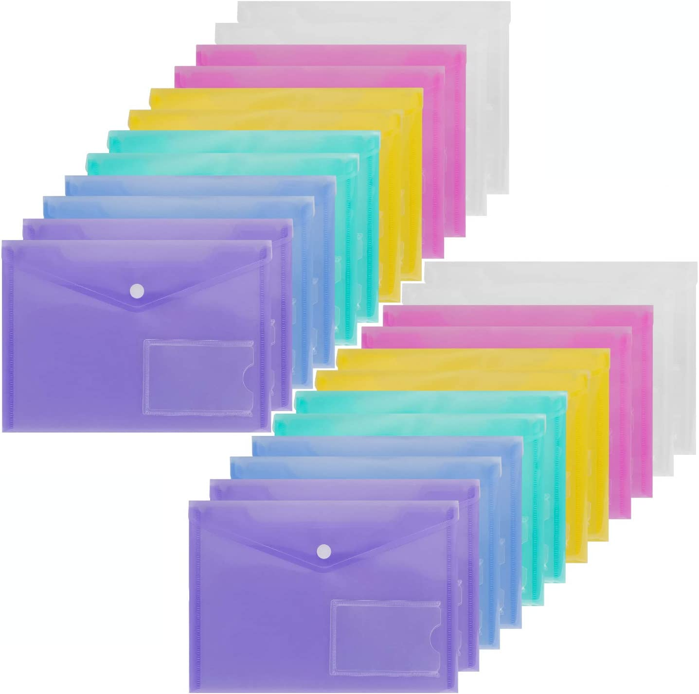 """500 Plain Document Enclosed Wallets Size A6 4.5x6.5/"""" Plastic Envelopes FREE P+P"""