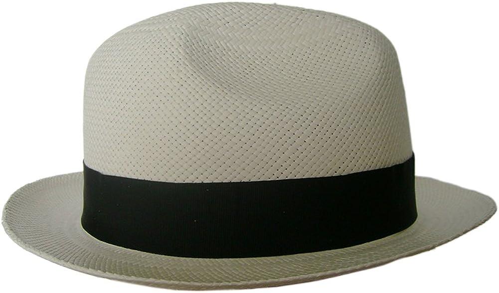Gamboa Sombrero de Panama Ala Corta Genuino Unisex Borsalino