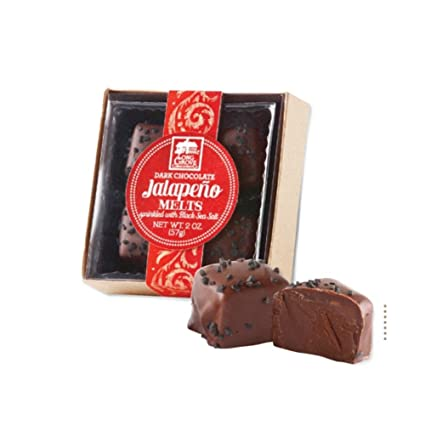 Long Grove Confectionery Dark Chocolate Jalapeño Melts (4pc)