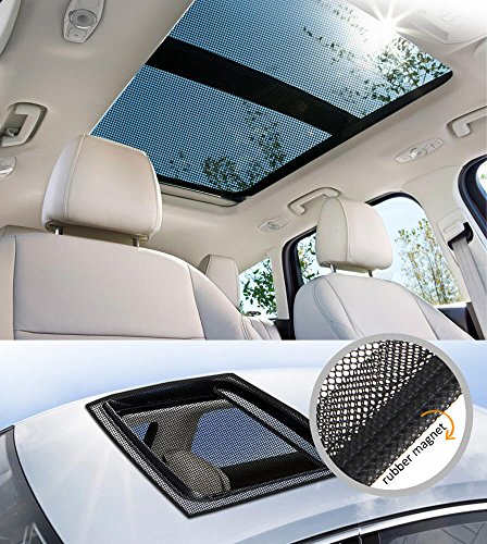 Sunroof Mosquito-Net for Anti-bugs, block the UV/Simple, portable and compatible, Convenient magnetic installation (L)