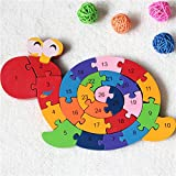 Extpro Wooden Snail Sorter Puzzles Letter Numbers
