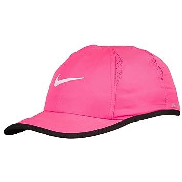 cd25dd90c82 Nike Featherlight Kids Hat (Pink Pow black white)  Amazon.co.uk  Sports    Outdoors