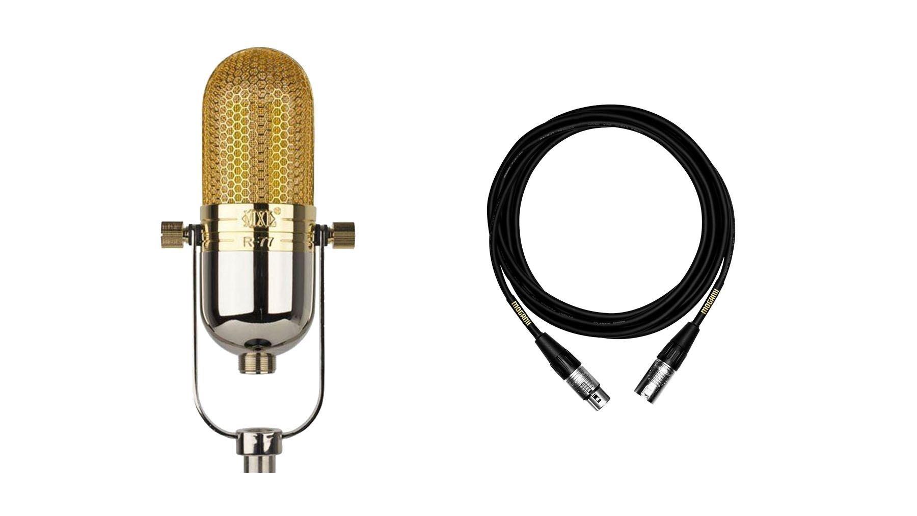 MXL R77 Microphone Bundle with Premium 15-foot XLR Mogami Cable (2 Items)