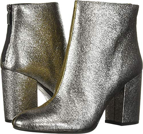 (Kenneth Cole New York Women's Cassandra Ankle Bootie Boot, Silver/Gold 6 M US)