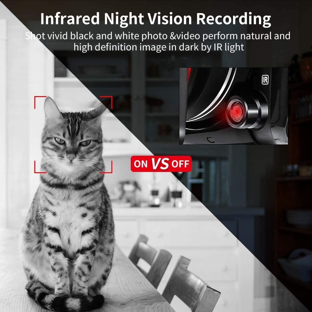 ORDRO Camcorder 4k-Videokamera 1080P 60 FPS IR-Nachtsicht-Videorecorder 3,1-Zoll-IPS-Touchscreen-WLAN-Camcorder mit Mikrofon Weitwinkelobjektiv Handheld-Halter und 32 GB SD-Karte