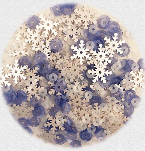 5,000 Piece Sequin Assortment for Crafts 60 Grams - Snowflake Assortment - 3 Packs ()