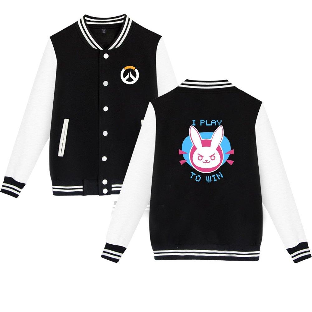 TISEA Unisex Couples Baseball Bunny Cosplay Sweatshirt Costume (XL, Black)