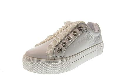 Guess Chaussures Femme Sneakers avec Plateforme sans Lacets FL5MZRLEA12  Bianco  Amazon.fr  Chaussures et Sacs a003d3aa2396