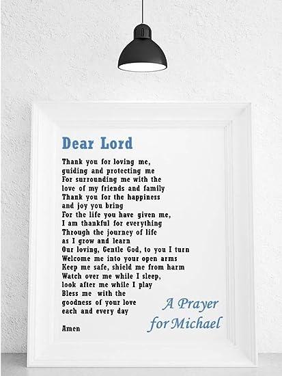 Placa personalizable en inglés para rosario de poema para ropa de niños. Apto para niño