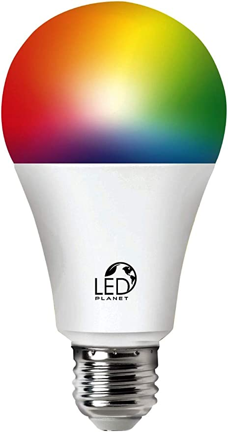 Lâmpada Bulbo LED Smart Wi-Fi Inteligente 10W Branco Frio e Quente + RGB Compatível com Alexa por LED PLANET