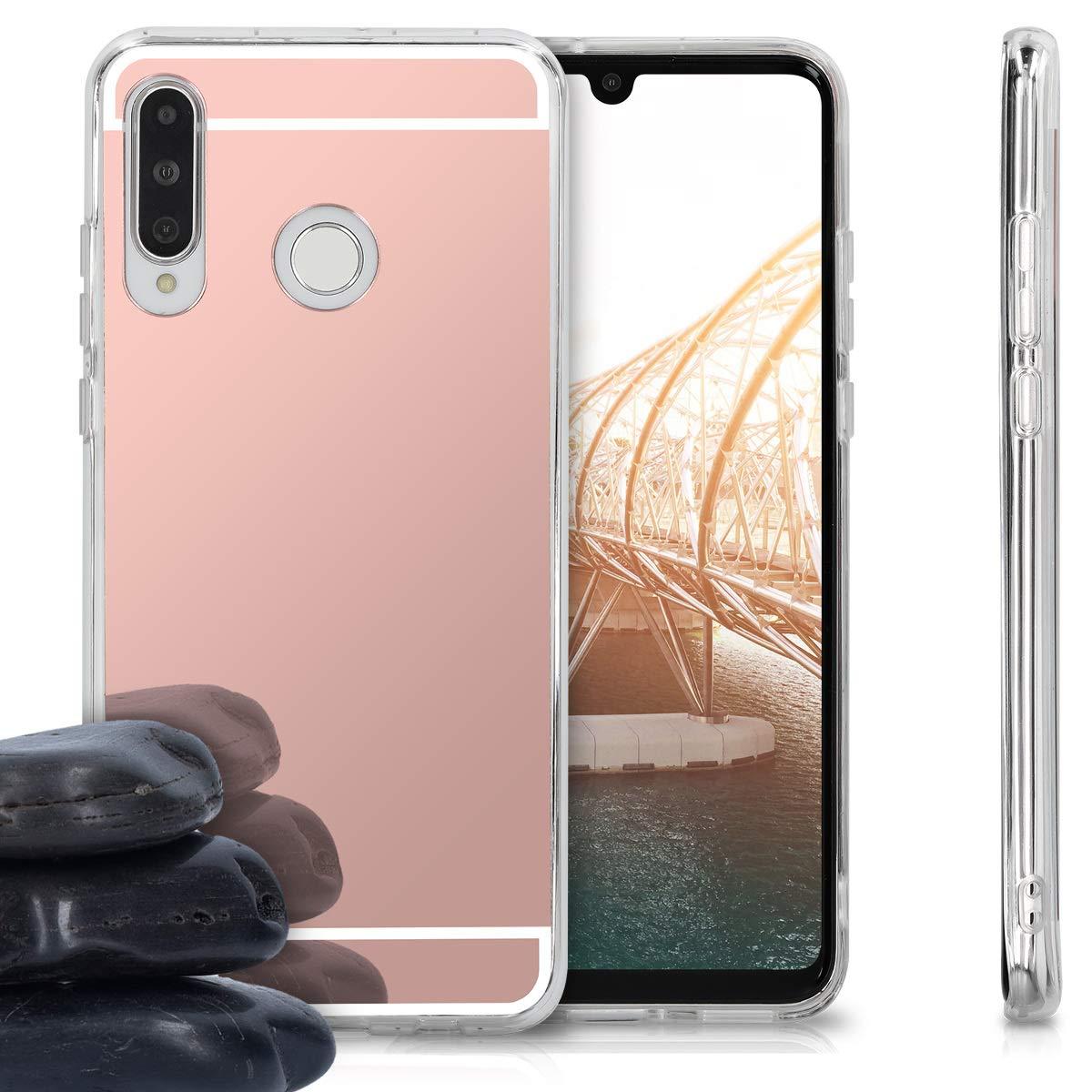 Coque pour Huawei P30 Lite kwmobile Coque Huawei P30 Lite Housse de t/él/éphone en Silicone Blanc-Transparent