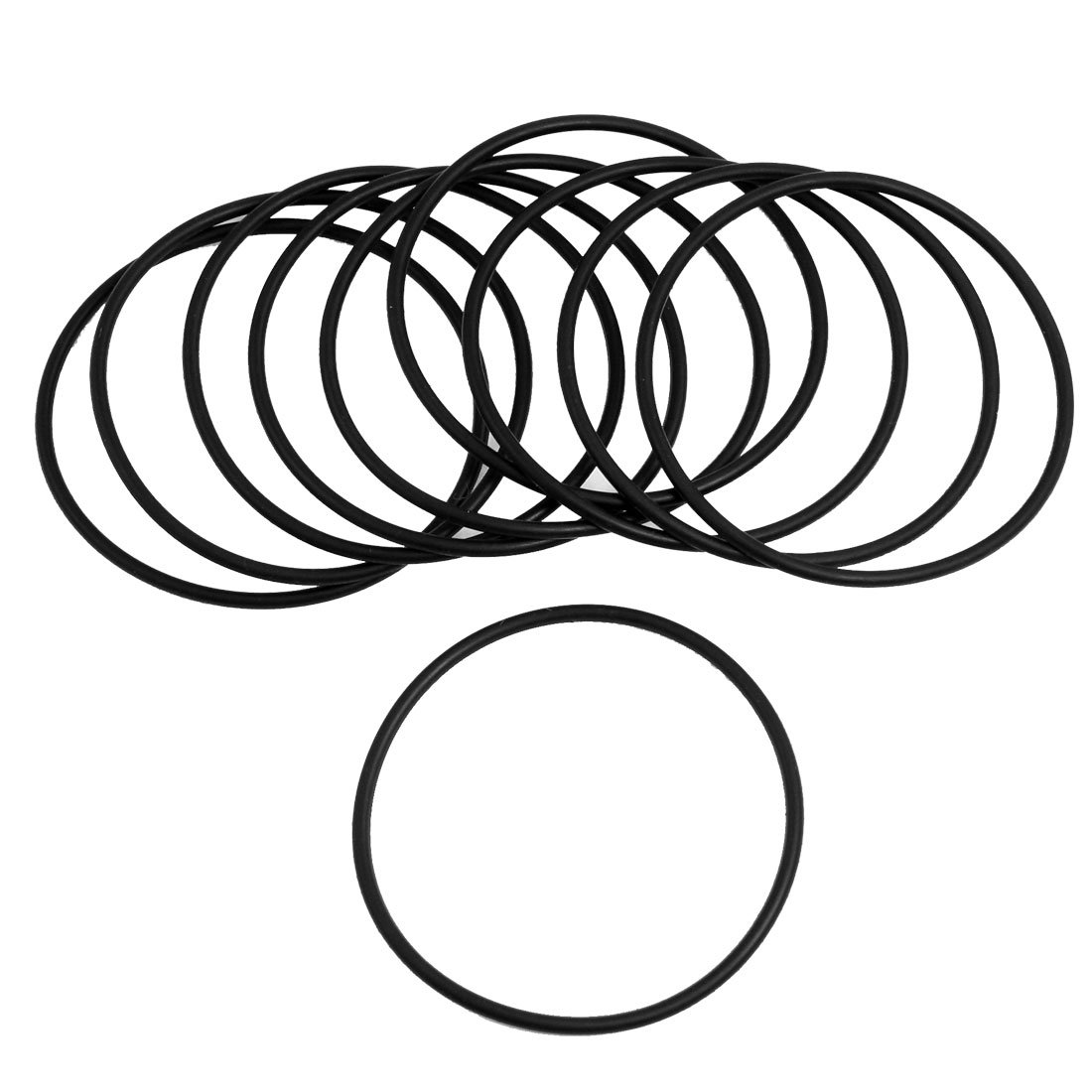 10 Pcs Black Rubber 60mm x 2.5mm Oil Seal O Rings Gaskets Washers
