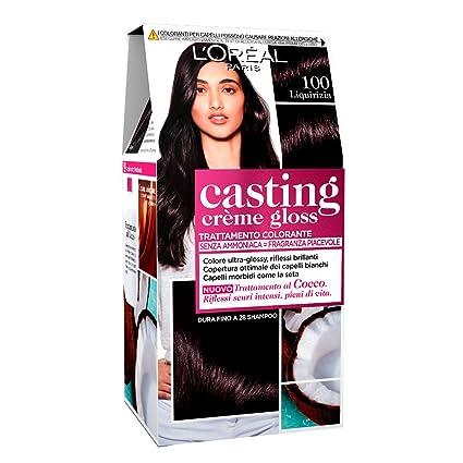 Loréal Paris Colorazione Capelli Casting Crème Gloss Tinta Colore Trattamento Senza Ammoniaca Per Una Fragranza Piacevole 100 Liquirizia