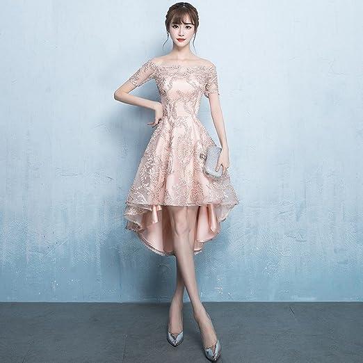 163f151e4d WCZ Vestido de Noche de Banquete Vestido de Dama de Honor Corto Elegante de  la Manera Vestidos Largos  Amazon.es  Deportes y aire libre