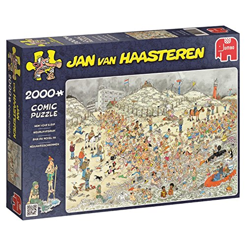 Jan van Haasteren New Year's Dip 2000 Piece Jigsaw Puzzle (Jumbo)