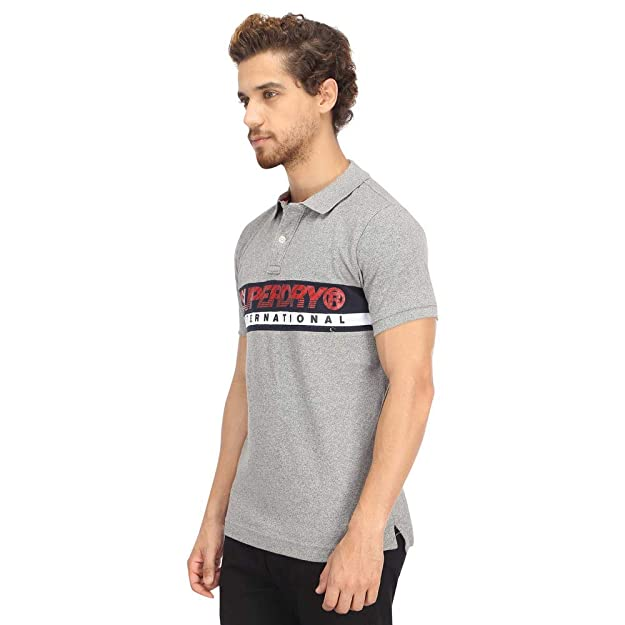 Superdry Polo Hombre International Chest Band Gris: Amazon.es ...