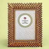 36 Brushed Gold Leaf Design 4 x 6 Frames