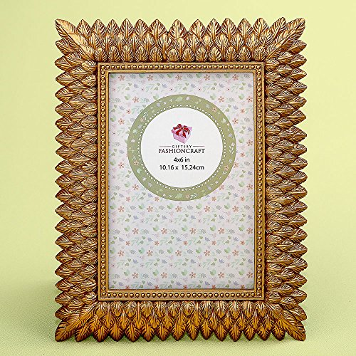 30 Brushed Gold Leaf Design 4 x 6 Frames by Fashioncraft