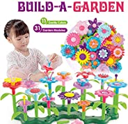 Kunmark Flower Building Toy Set, Garden Building Blocks Playset for Girls Boys, Educational Kids STEM Toys Cre
