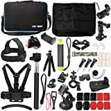 50 in 1 Basic Common Action Camera Outdoor Sports Accessories Kit for GoPro Hero 6/5/Session 5/4/3/2/1 SJ4000/5000/6000/Xiaomi Yi/AKASO/APEMAN/DBPOWER/Sony Sports DV and More