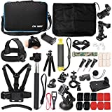 50 in 1 Basic Common Action Camera Outdoor Sports Accessories Kit for GoPro Hero 6 5 Session 5 4 3 2 1 SJ4000 5000 6000 Xiaomi Yi AKASO APEMAN DBPOWER Sony Sports DV and More