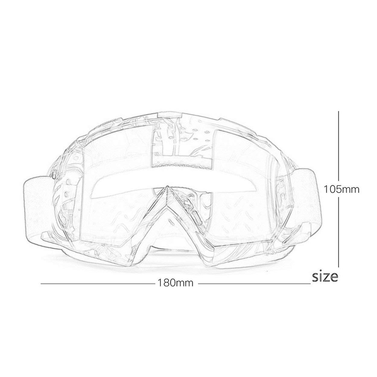 Lorenlli Moto Rider Wear X600 Motocross Occhiali protettivi da equitazione Occhiali da sci per attivit/à allaperto
