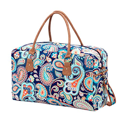 Price comparison product image Emerson Paisley 19 x 12 x 8 inch Womens Polyester Travel Duffel with Handles