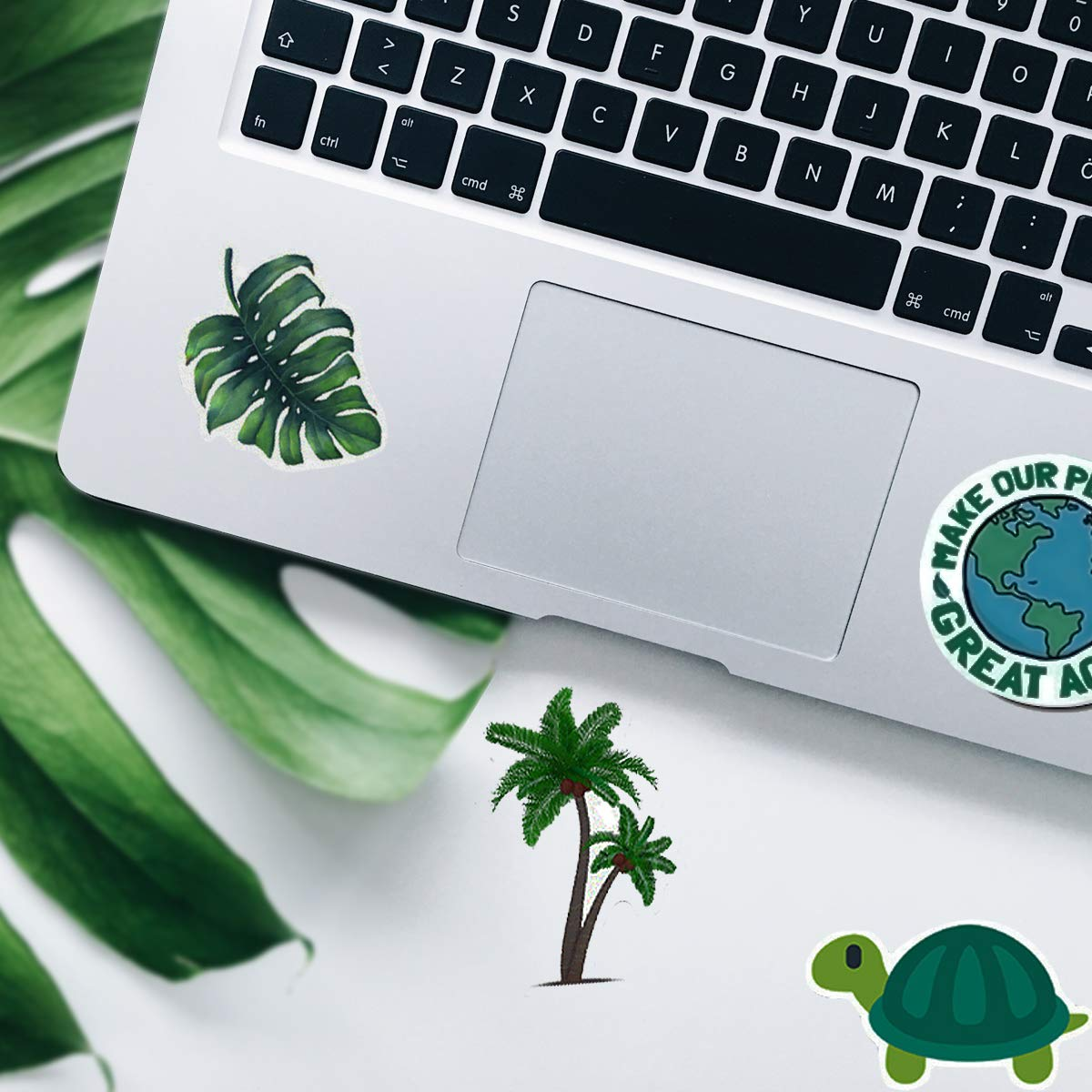 Trendy VSCO Vinyl Stickers for Laptop Water Bottles (50-Pack) Cute Aesthetic Waterproof Stickers for Hydro Flask, Suitable for Girls, Kids, Teens, Adults (Green Series)