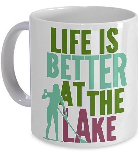 Amazon.com: Life Better Lake SUP Mug Lake Stand Up Paddle ...