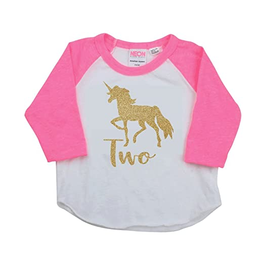 00d55e4e Image Unavailable. Image not available for. Color: 2 Year Old Birthday Shirt,  Unicorn Second Birthday Outfit
