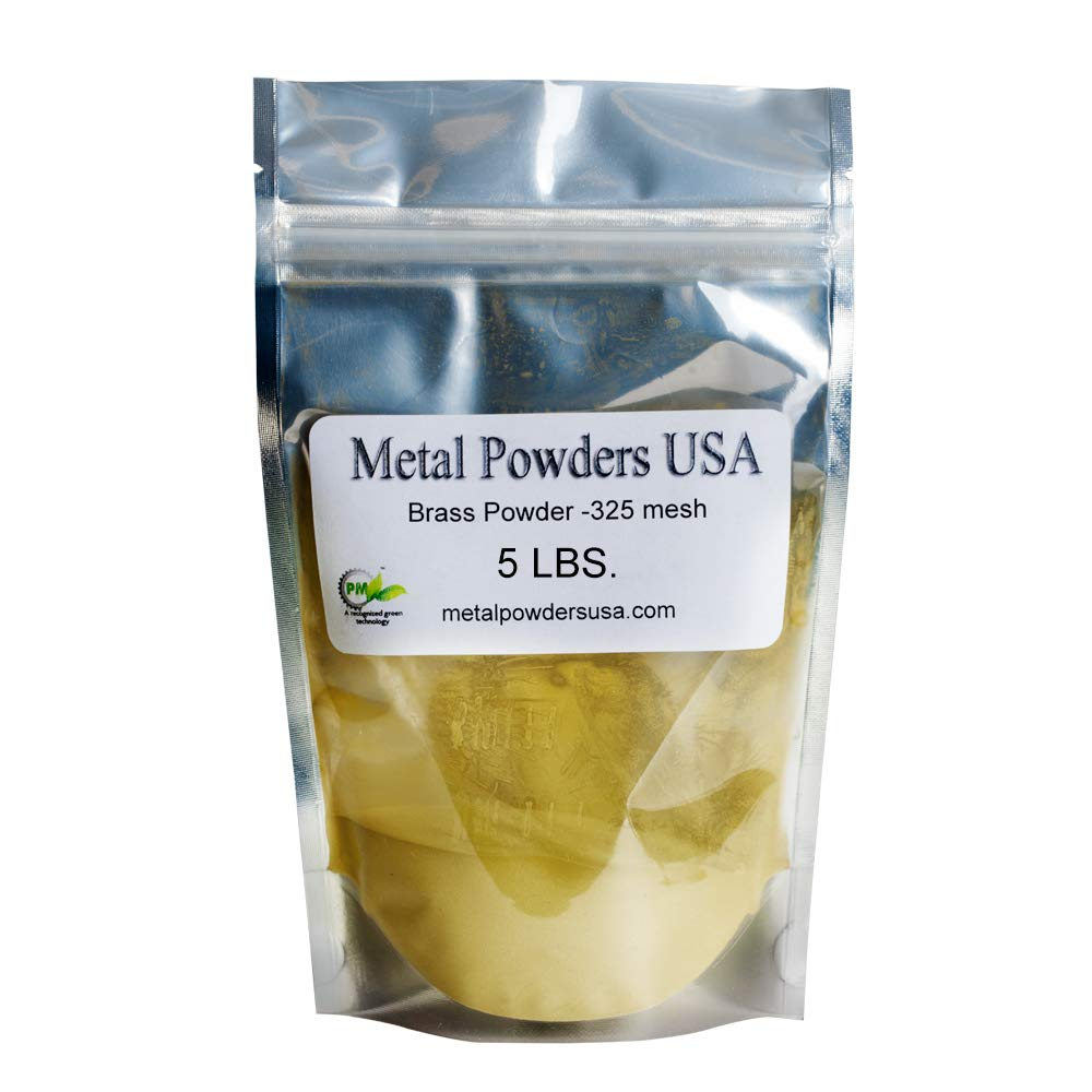 Brass Powder -325 Mesh Five pounds (5LBS) Ships 1-3 Days Priority Mail