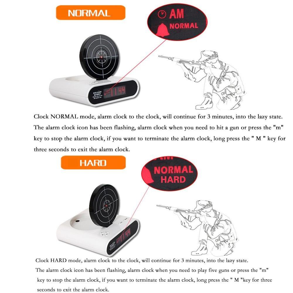 Amazon.com: AOLVO novedad despertador con pistola reloj ...