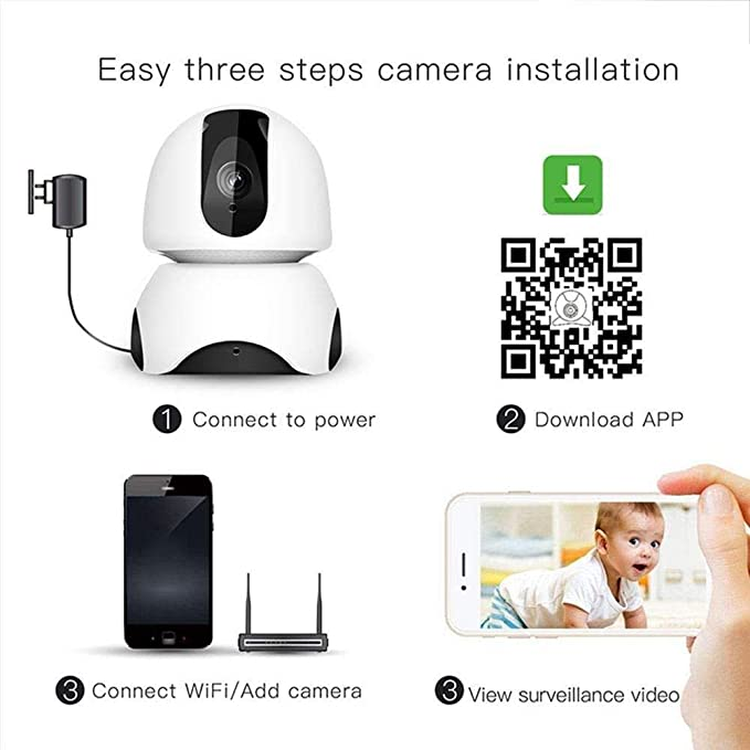 ... System HD 1080P Camera Wireless Night Vision Motion, Supports bi-Directional Calls, Mobile Remote Control, for Home, Babies and Pets: Electronics