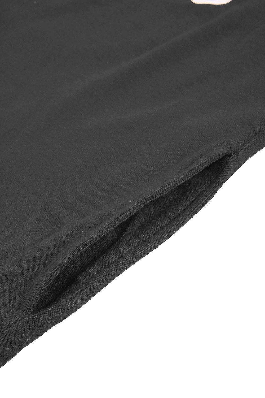 Cutiefox Womens Crew Neck Mama Bear Long Sleeve T Shirt Blouse Top Black L