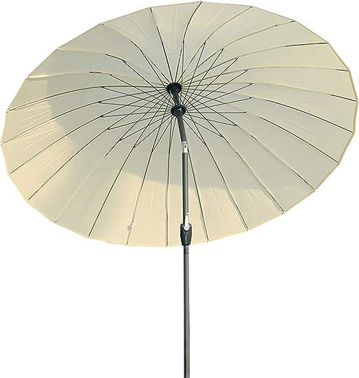 Angel Living 250cm Parasol de Acero de Jardín con Manivela ...