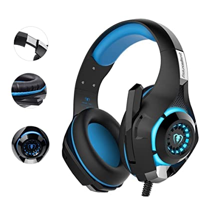 PS4 Gaming Headset|RedHoney Xbox One Headset|PC Gaming Headset|Xbox Gaming  Headphones with Microphone for PS4 Xbox One PSP Netendo DS PC Tablet (Blue)