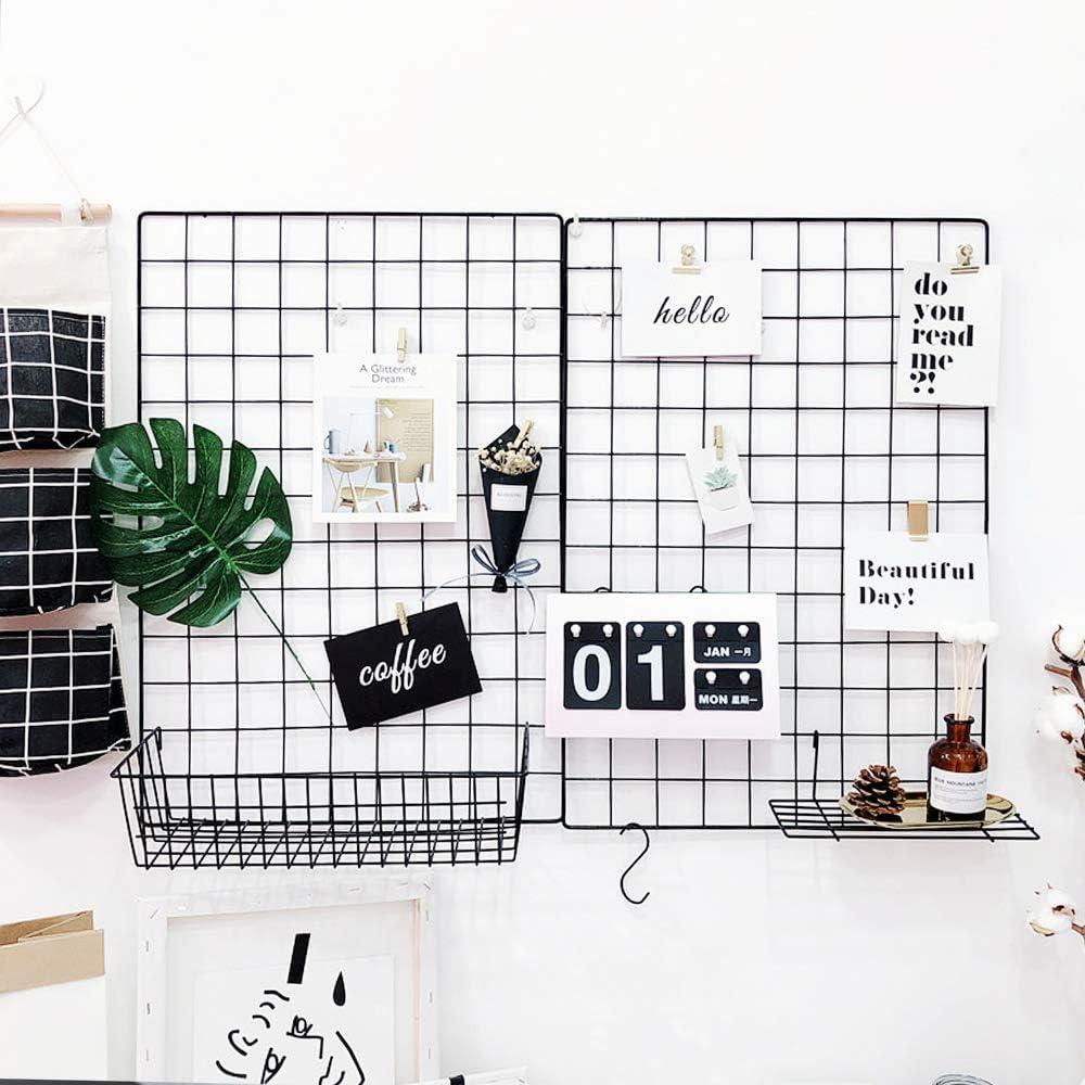 Panel de cuadr/ícula de alambre multifuncional planta de la foto exposici/ón arte de la malla Collage arte trabajo marcos de cuadros pared dormitorio decoraci/ón planta de navidad
