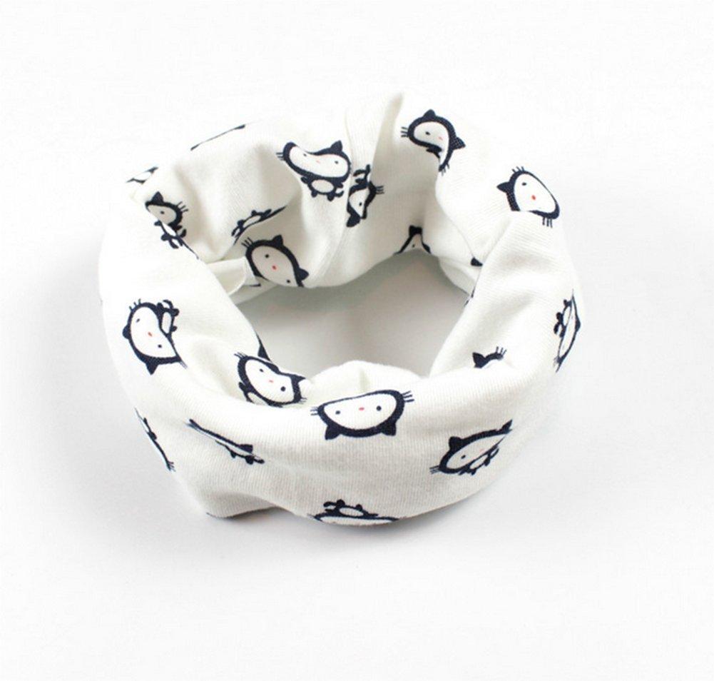 Lavillede - Bufanda de algodón con diseño de cuello para bebé, multicolor