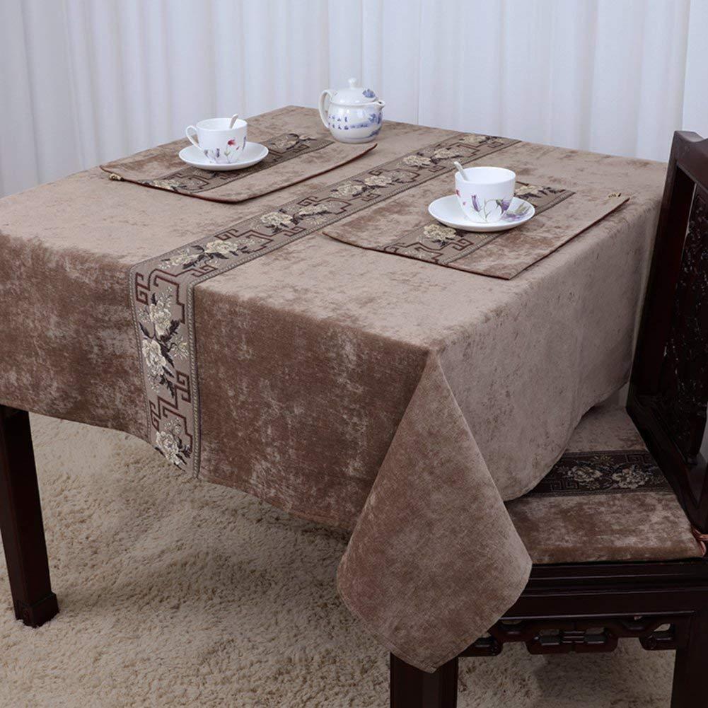 Shuangdeng ヨーロッパスタイル、田舎風、テーブルクロスクラシック、シンプル、中華風、テーブルクロス (Color : M, サイズ : 140x140cm(55x55inch)) 140x140cm(55x55inch) M B07RRTP58N