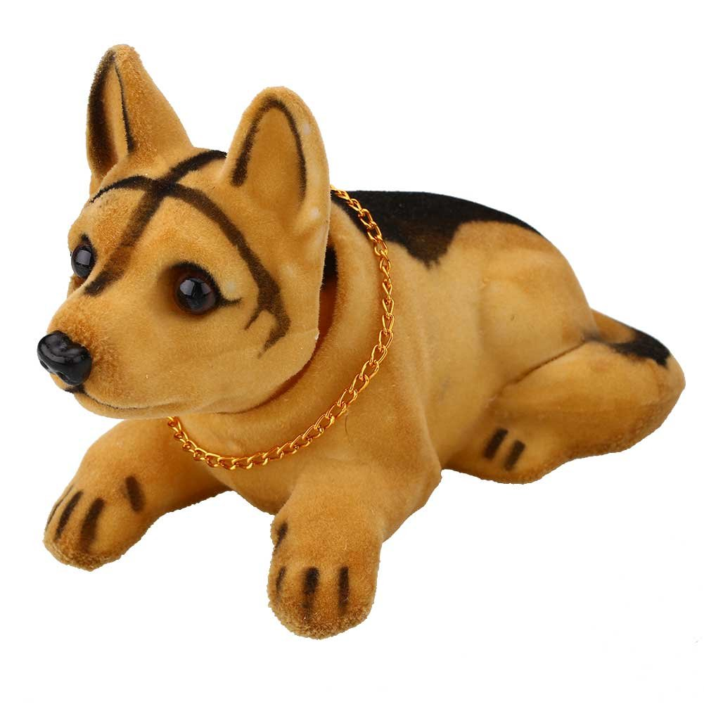 Sedeta Huskie Bobbing Nodding Nodder Moving Bobble Head Dog Car Home Interior Decor Doll Toy Lovely Soft Plush Bobbing N