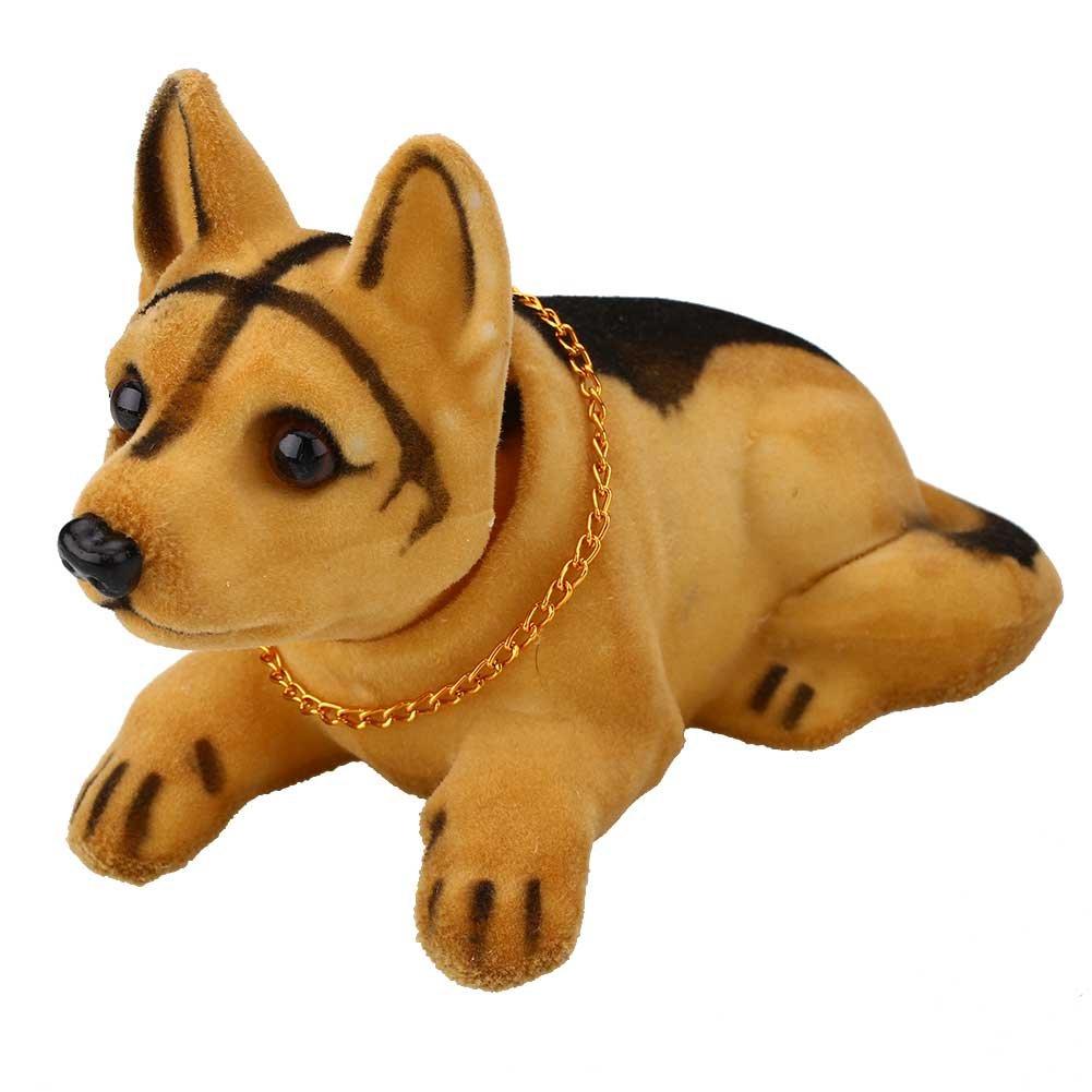 Sedeta Huskie Bobbing Nodding Nodder Moving Bobble Head Dog Car Home Interior Decor Doll Toy Lovely Soft Plush Bobbing N