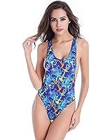 DOIOWN Summer Women Sexy Halter One Piece Monokinis Bikini Padding Removable