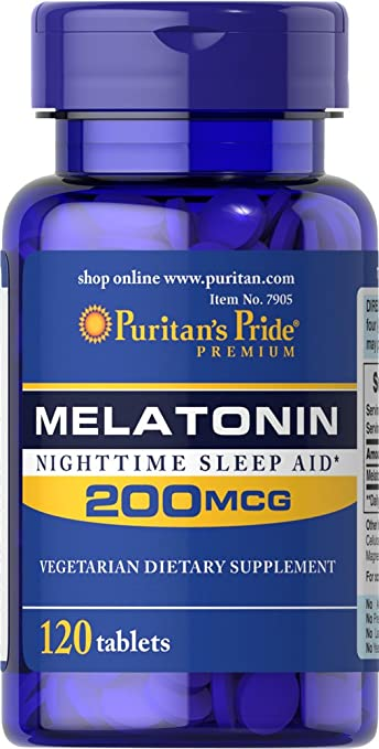 Image Unavailable. Image not available for. Color: Puritans Pride Melatonin ...
