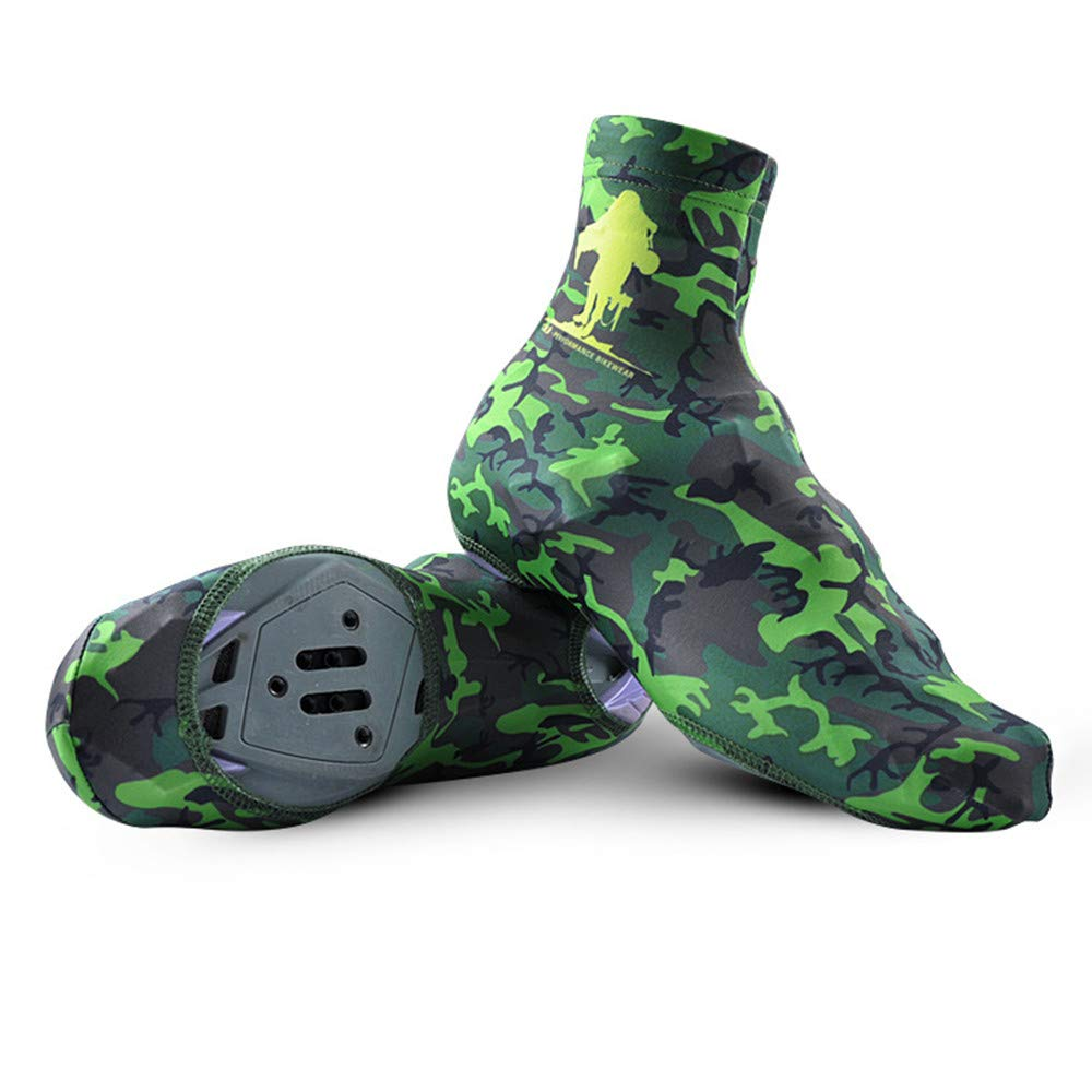 Yao Space Bike Shoes Cover, Waterproof Reflective Cycling Shoe Covers, Windproof Bicycle Lock Overshoes Rain Snow Boot Protector Feet Gaiters (Color : Green, Size : 7.5 UK) by Yao Space