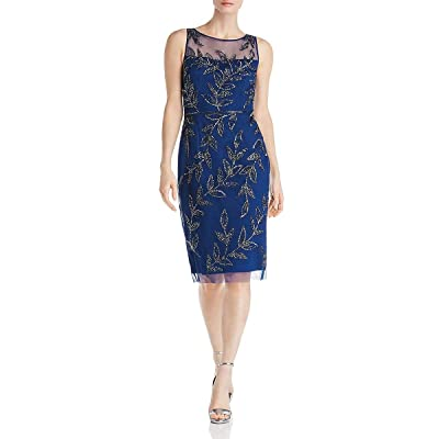 Adrianna Papell Women's Beaded Cocktail Sheath Dress at Amazon Women's Clothing store