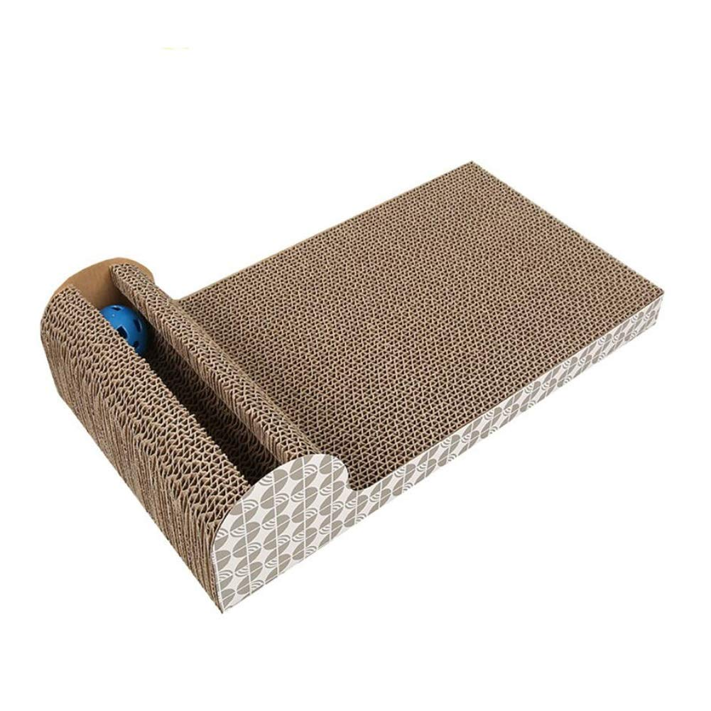 LSS Cat Scratch Board, Cat Sofa, Grinding Claw Corrugated Paper Pet Toy Supplies with Bell