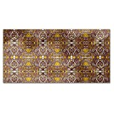 In The Aztec Temple Rectangle Tablecloth: Medium Dining Room Kitchen Woven Polyester Custom Print