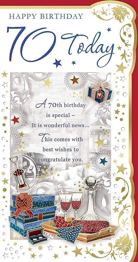 Cards Galore Online Tarjeta de cumpleaños para Hombre de 70 ...