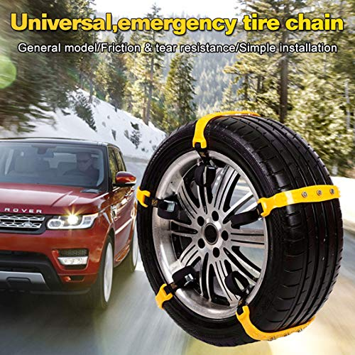 Garne-T Anti Slip Tire Chains Snow Tire Chains Car Emergency Thickening Anti-Skid Chain, Fit for Most Car/SUV/Vans/Truck, Set of 10 with Free Snow Shovel and Gloves (Style 1) by Garne-T (Image #4)