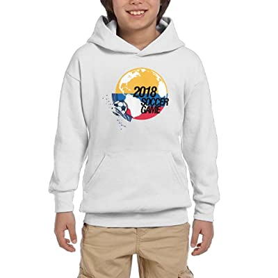 2018 Soccer Game Colombia Youth Unisex Hoodies Print Pullover Sweatshirts